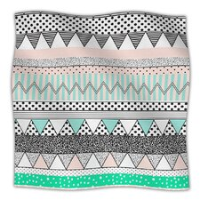 Chevron Motif Microfiber Fleece Throw Blanket