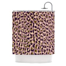 Leopard Print Polyester Shower Curtain