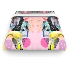 """""""Flamingo Tropical"""" Woven Comforter Duvet Cover"""