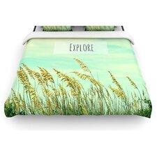 """Explore"" Quote Woven Comforter Duvet Cover"