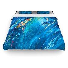 """Big Wave"" Woven Comforter Duvet Cover"