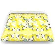 """""""Spring Flourish"""" Woven Comforter Duvet Cover"""