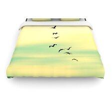"""""""Across The Endless Sea"""" Birds Woven Comforter Duvet Cover"""