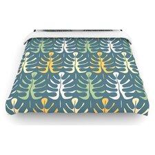 """""""My Leaves on Blue"""" Woven Comforter Duvet Cover"""