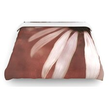 """Copper and Pale Pink"" Flower Woven Comforter Duvet Cover"