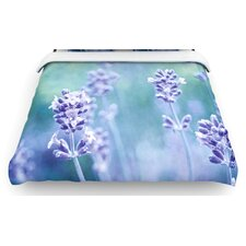 """Lavender Dream"" Flower Woven Comforter Duvet Cover"