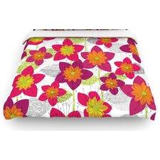 """""""Star Flower"""" Floral Woven Comforter Duvet Cover"""
