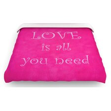 """Love is all you need"" Quote Woven Comforter Duvet Cover"