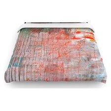 """Mots de La Terre"" Splatter Paint Woven Comforter Duvet Cover"