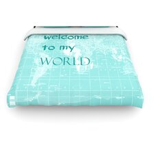 """Welcome to my World Quote"" Woven Comforter Duvet Cover"