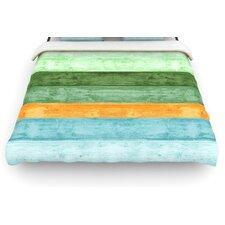 """""""Beach Wood Blue"""" Art Object Woven Comforter Duvet Cover"""
