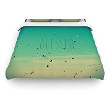 """""""Blessed"""" Birds Woven Comforter Duvet Cover"""