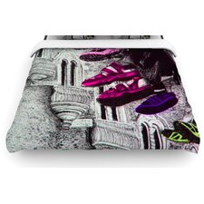 Shoes in SF by Theresa Giolzetti Woven Duvet Cover