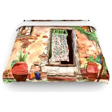 Tuscan Door by Theresa Giolzetti Woven Duvet Cover