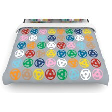 Roll with It On Grey Duvet Cover
