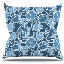 Simple Circles by Julia Grifol Throw Pillow