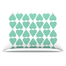 Diamond Hearts Throw Pillow