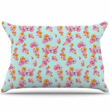 Paper Flower Pillowcase