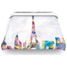Paris City Rainbow Cotton Duvet Cover