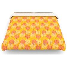 Wild Summer Dandelions Circles Cotton Duvet Cover
