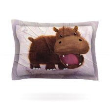 The Happy Hippo Cotton Pillow Sham
