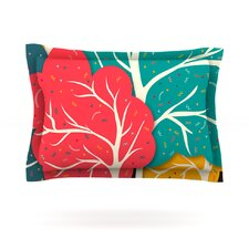 Happy Forest TreesCotton Pillow Sham