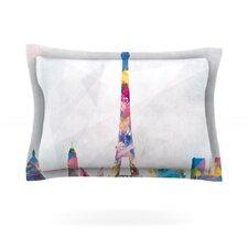 Paris City Rainbow Cotton Pillow Sham