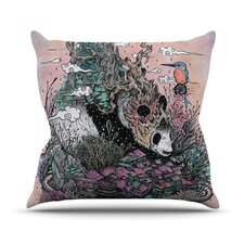Land of The Sleeping Giant Panda Outdoor Throw Pillow