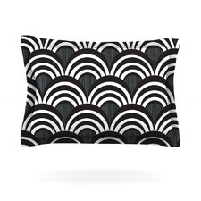 Art Deco Black Cotton Pillow Sham
