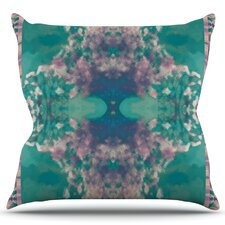 Ashby Blossom Teal Throw Pillow