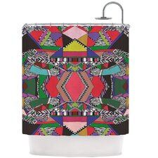 African Motif Polyester Shower Curtain