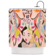 Alice in Wonderland Polyester Shower Curtain