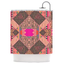 New Wave Zebra Polyester Shower Curtain