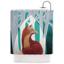 Fox Forest Polyester Shower Curtain