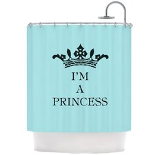 Im A Princess Polyester Shower Curtain