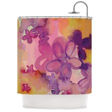 Dissolved Flowers Polyester Shower Curtain