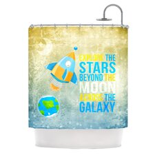 Explore The Stars Polyester Shower Curtain