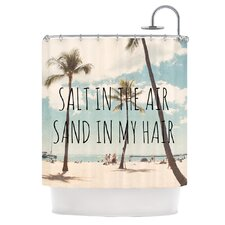 Salt in The Air Polyester Shower Curtain