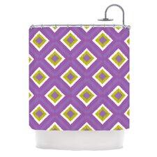 Purple Splash Tile Polyester Shower Curtain