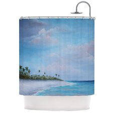 Carefree Caribbean Polyester Shower Curtain