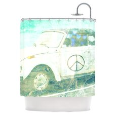 Love Bug Polyester Shower Curtain