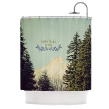 Happy Trails Polyester Shower Curtain