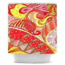 Swirls Polyester Shower Curtain