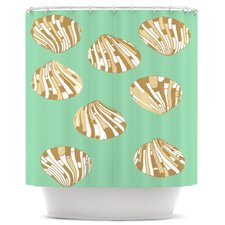 Scallop Shells Polyester Shower Curtain