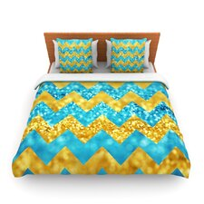 Blueberry Twist by Beth Engel Fleece Duvet Cover
