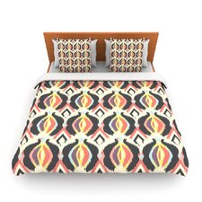 Bohemian iKat by Amanda Lane Fleece Duvet Cover
