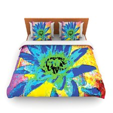 Wild Lotus by Anne LaBrie Fleece Duvet Cover