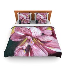 Pink Day Lily Blooms by Cathy Rodgers Fleece Duvet Cover