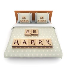 Be Happy by Cristina Mitchell Fleece Duvet Cover
