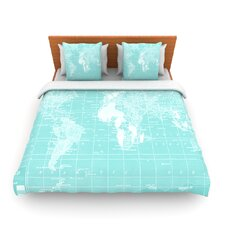 Welcome to my World by Catherine Holcombe Fleece Duvet Cover
